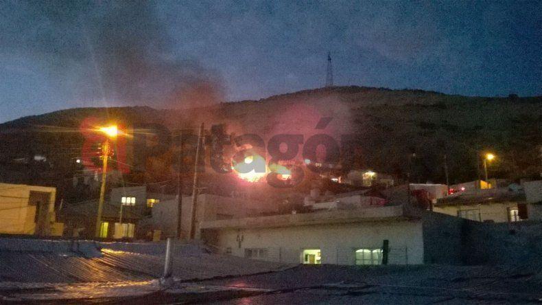 Incendio en el barrio Pietrobelli