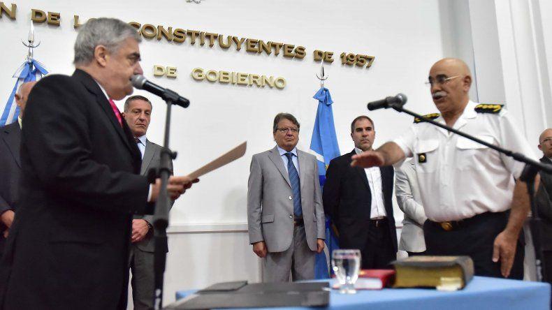 Juan Luis Ale juró ayer como jefe de Policía en reemplazo de Ricardo Hughes