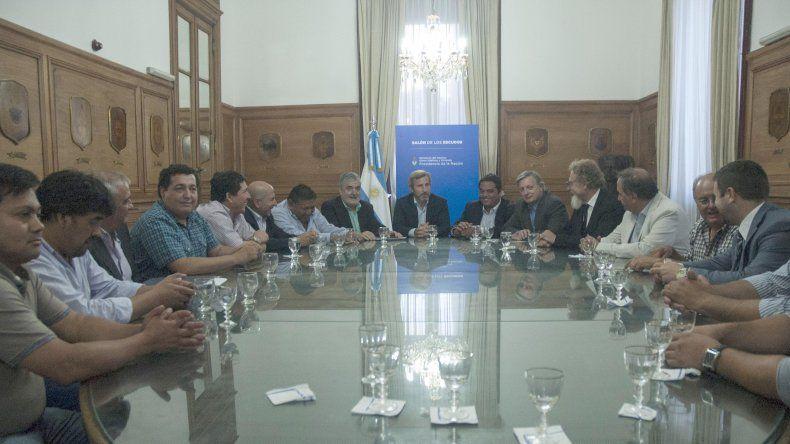 La reunión que se celebró ayer en Casa Rosada con el ministro del Interior