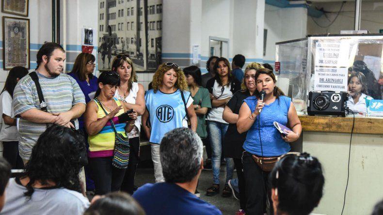ATE aguardará 48 horas a  que el Gobierno reincorpore  a los 86 contratados de Salud