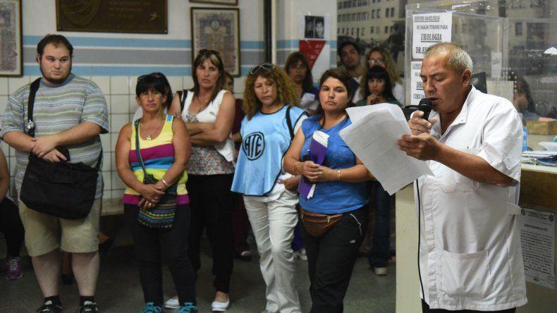 El lunes ATE había realizado una asamblea en el Hospital Regional en apoyo a quienes venían en riesgo su continuidad laboral.
