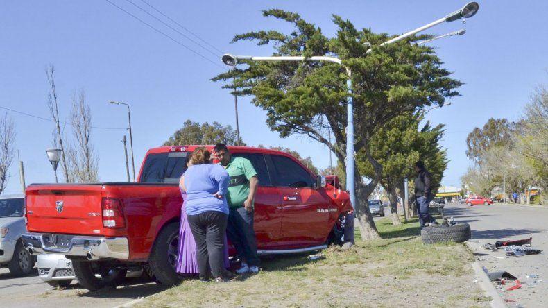 Angelo Paolo Jorge en un incidente que protagonizó en octubre del año pasado cuando circulaba en una Dodge RAM sin papeles ni patente y destrozó otros vehículos.