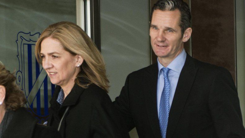 Cristina de Bordón y su marido Iñaki Urdangarin.