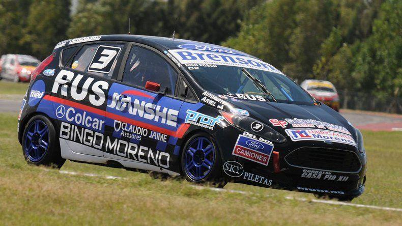 El Ford Kinetic de Nicolás Posco que fue el vencedor de la carrera de la clase 2.