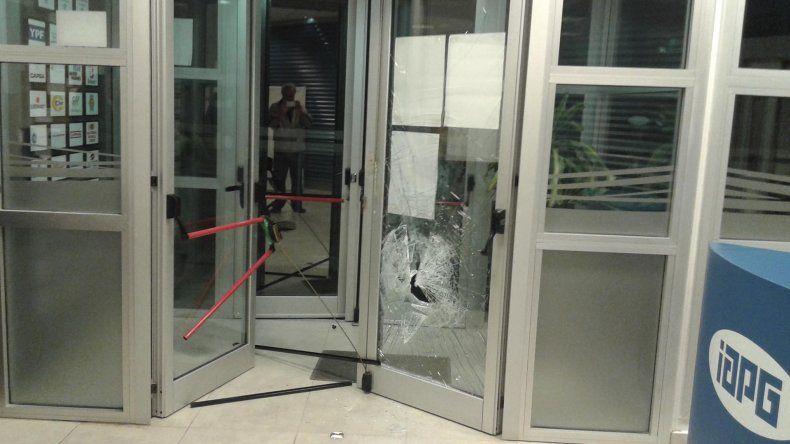 El atentado y robo al edificio del IAPG ocurrió ayer en horas de la madrugada y no hay detenidos.