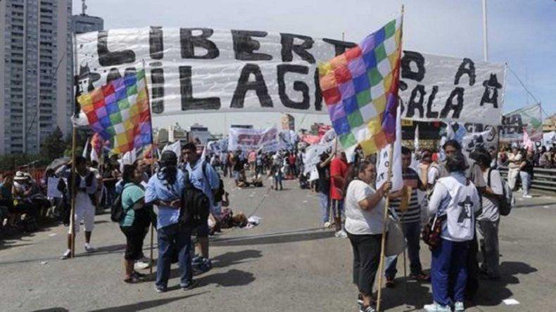 Cerca de 40 organizaciones realizaron una jornada de reclamo por la liberación de la líder social.