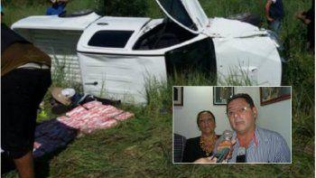 Funcionario formoseño volcó con una camioneta cargada con 50 kilos de cocaína