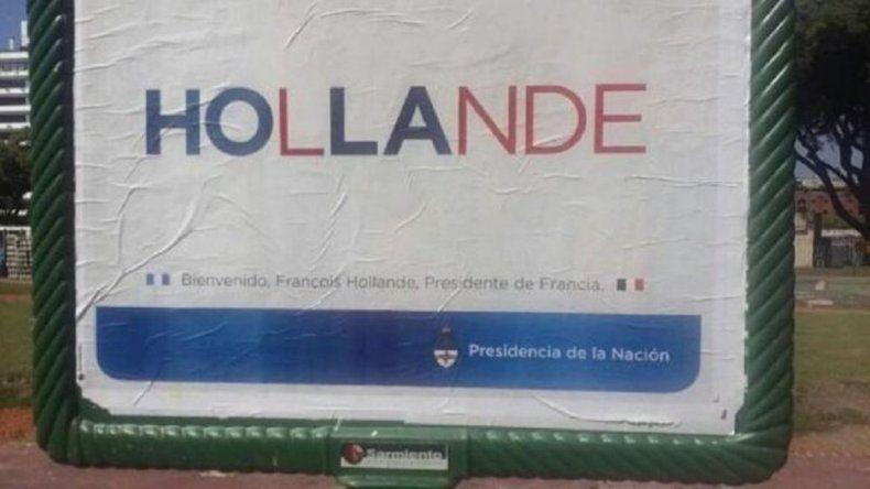 El error en un cartel de Presidencia del que habló todo el mundo