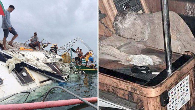Encontraron a un hombre momificado en un barco