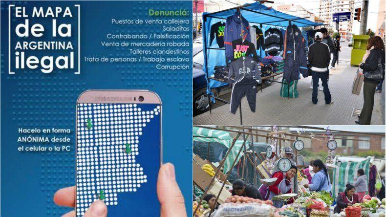 Se podrán denunciar puestos de venta callejera desde el celular