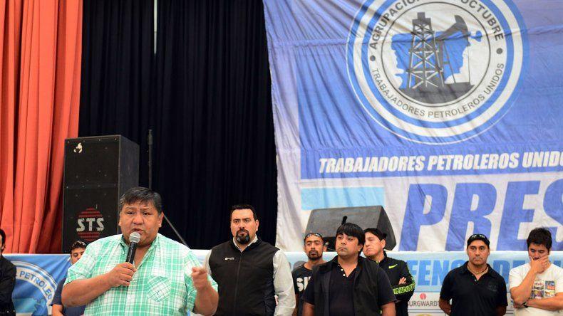 La reunión de delegados que Jorge Avila encabezó en el Predio Ferial.