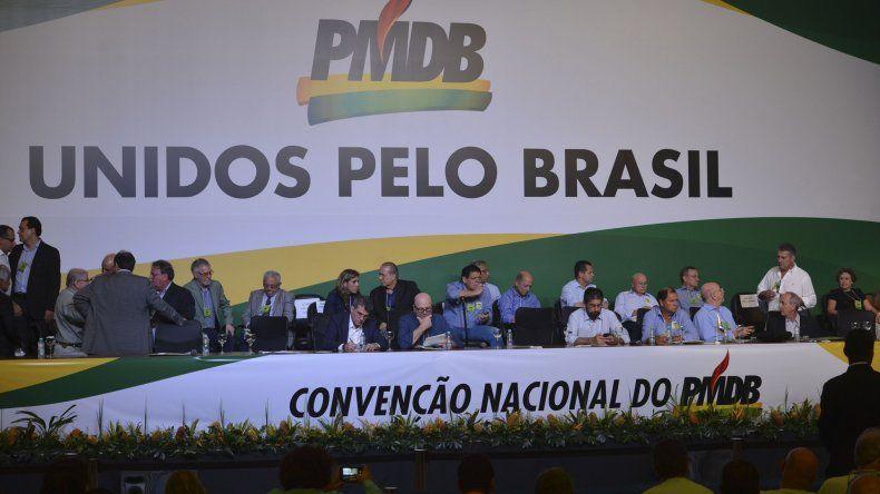 El PMDB marcó distancias con el gobierno de Rousseff.
