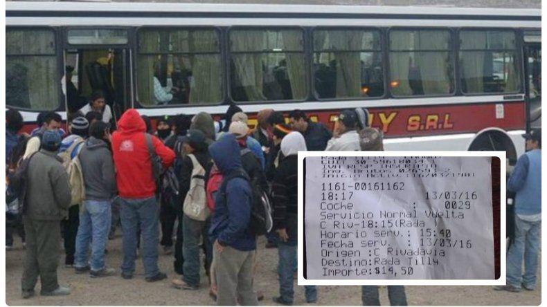 El boleto del colectivo Expreso Rada Tilly aumentó a 14