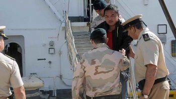 El capitán del buque pesquero chico se encuentra en calidad de detenido.