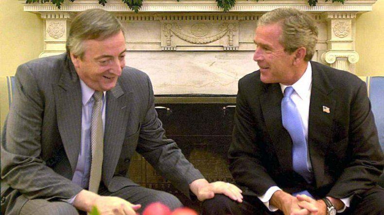 George Bush (h) y Néstor Kirchner. Fue el fin de las relaciones carnales.