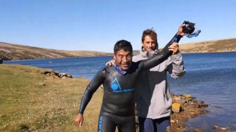 El video del nado por la identidad de los caídos en Malvinas
