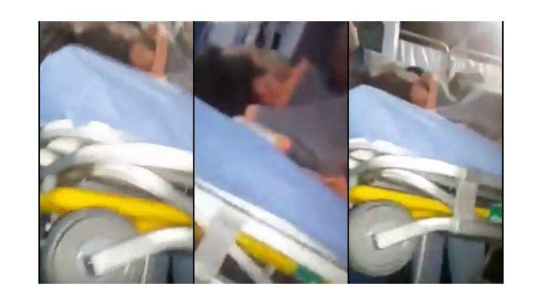 Chano chocó otra vez y así fue trasladado al Hospital