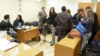 En la audiencia del viernes, Kesen y Solís se reencontraron luego de seis meses. Enfrente los observa Carolina Gayá, querellante en la causa.