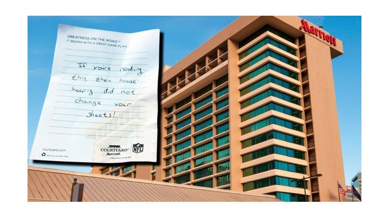 La nota que reveló el secreto de un hotel: ¿cambiaron las sábanas?