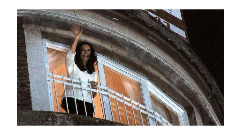 Cristina ya está en su casa de Recoleta