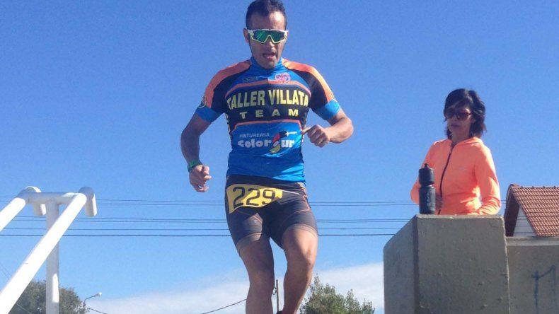 Ezequiel Villata fue el ganador del Duatlón Héroes de Malvinas.