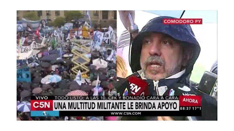 La gente quiere estar cerca de Cristina, dijo Aníbal Fernández