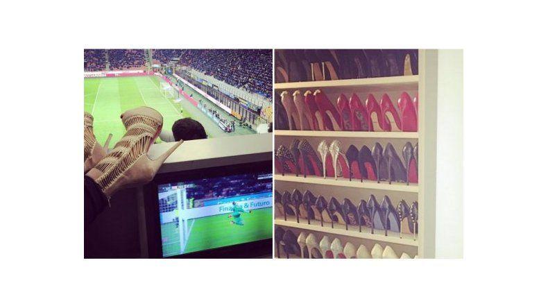 ¡La colección de zapatos de Wanda Nara!