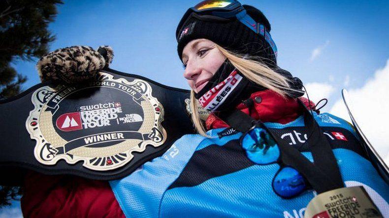 Murió en una avalancha la campeona mundial de snowboard