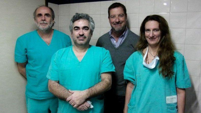 De izquierda a derecha. Dr. Claudio Bisioli