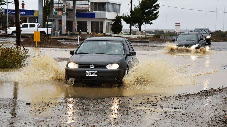 Esta vez Comodoro soportó tanta lluvia más preparado que en otros temporales