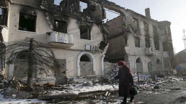 La destrucción en la región separatista de Donetsk.