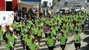 Exitosa corrida de Bomberos en Sarmiento