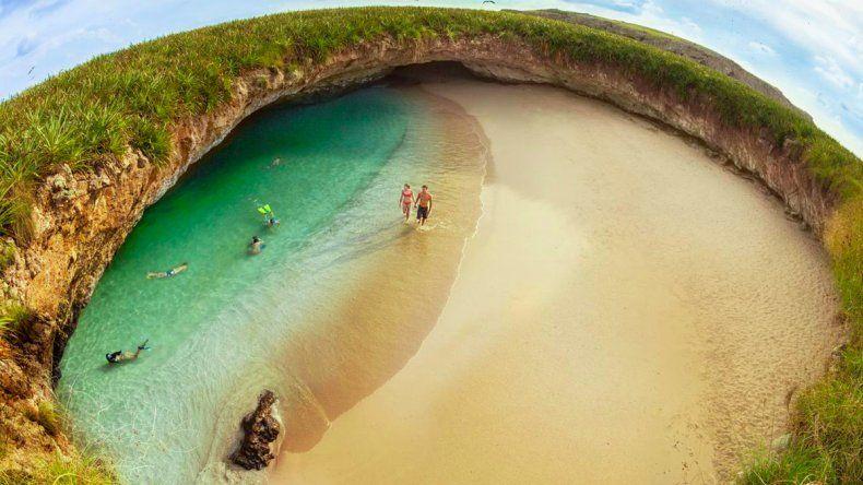 Cierran al turismo la famosa Playa del amor