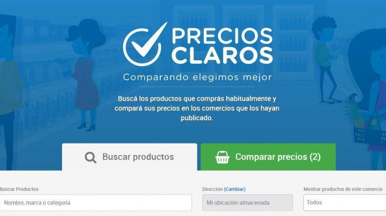 Ya se puede consultar online  los precios de 5 mil productos