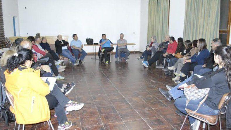 La reunión se realizó el último viernes en uno de los salones del complejo Huergo.