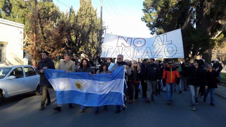 La marcha que organizó la comunidad de Esquel la semana pasada para protestar contra el tarifazo.