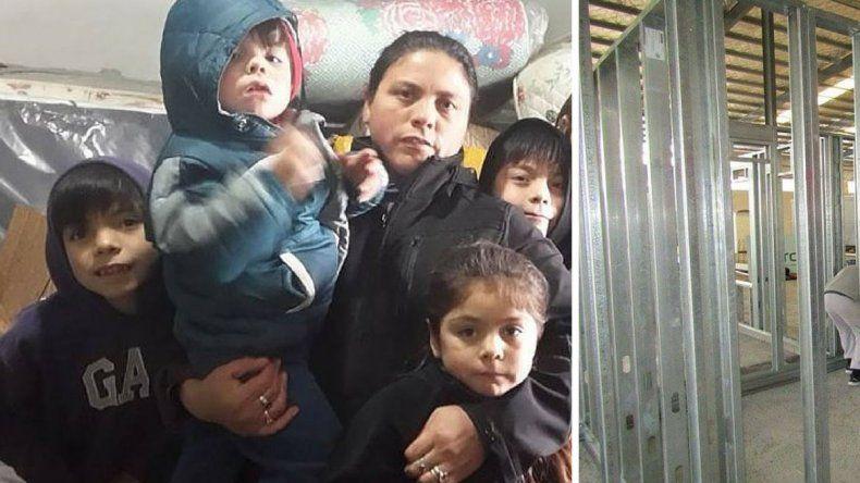 Consiguieron una estructura para Marcela y sus 6 hijos