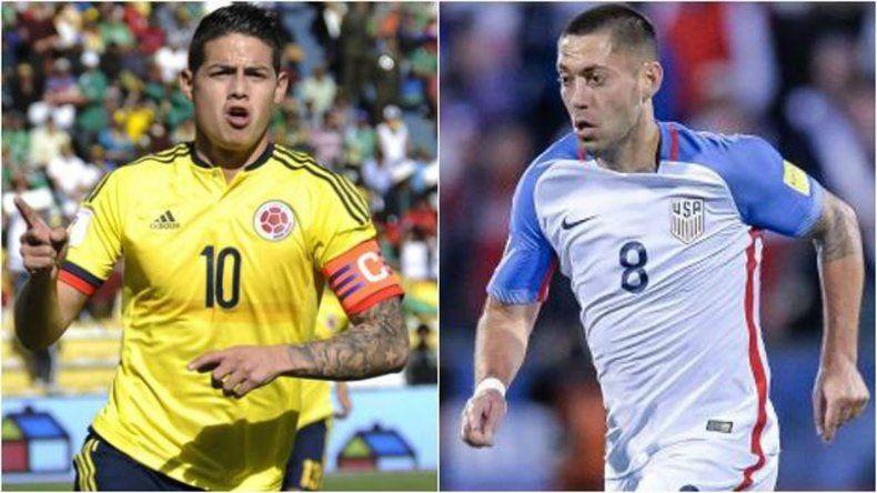 James Rodríguez y Clinton Dempsey
