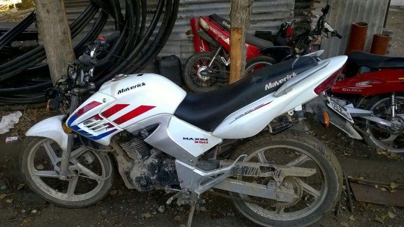 Secuestraron en Laprida una moto que había sido robada en Corrientes