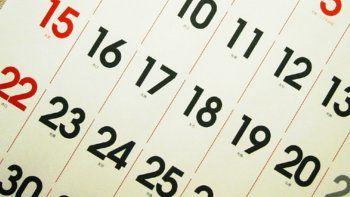 ¿Cuándo es el próximo feriado nacional?