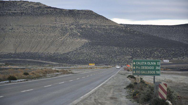Las obras comprenden el tramo de la ruta Nacional 3 que une Comodoro Rivadavia con Caleta Olivia.