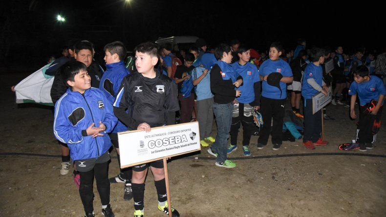 La delegación de los chicos de Coseba de Río Gallegos.
