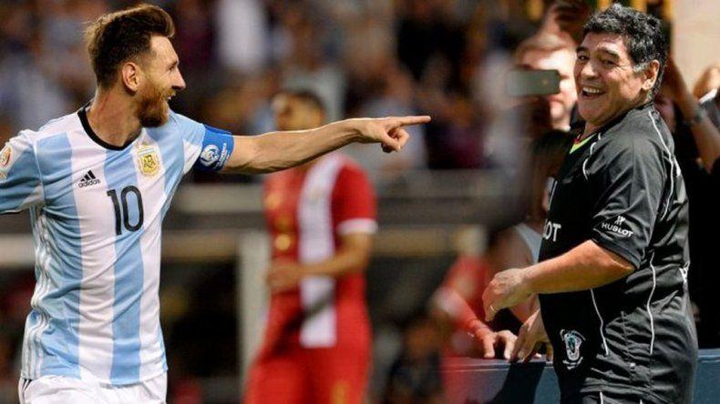 Sus consejos son siempre bienvenidos, le contestó Messi a Maradona