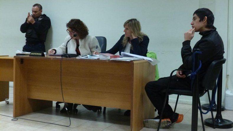 Gustavo Martínez ayer durante la audiencia de revisión de la prisión preventiva en la Oficina Judicial.