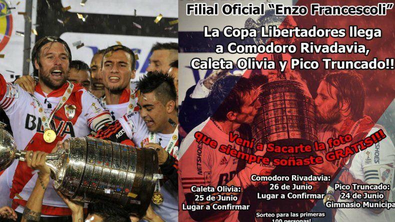 La Copa Libertadores estará en Comodoro