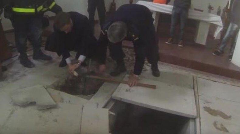 Según una de las monjas, las bóvedas tenían destino mortuorio