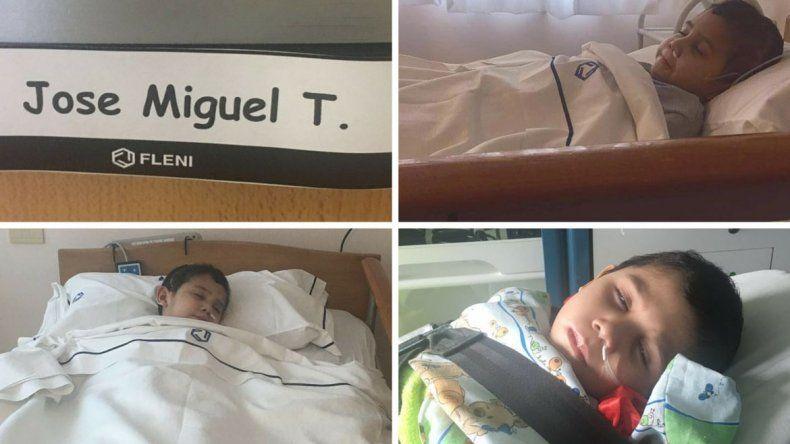 Alivio: Miguelito llegó Buenos Aires y ya descansa en el FLENI