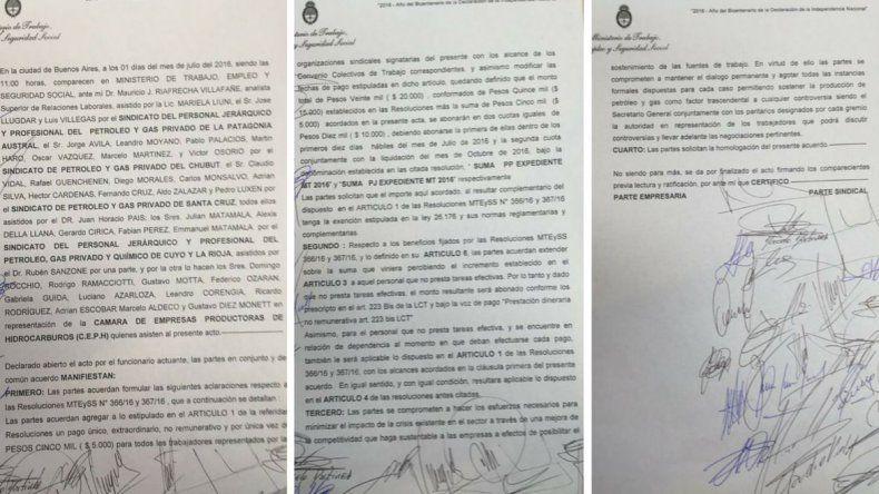 Petroleros firmó un aumento del 30% y un adicional de 20 mil pesos