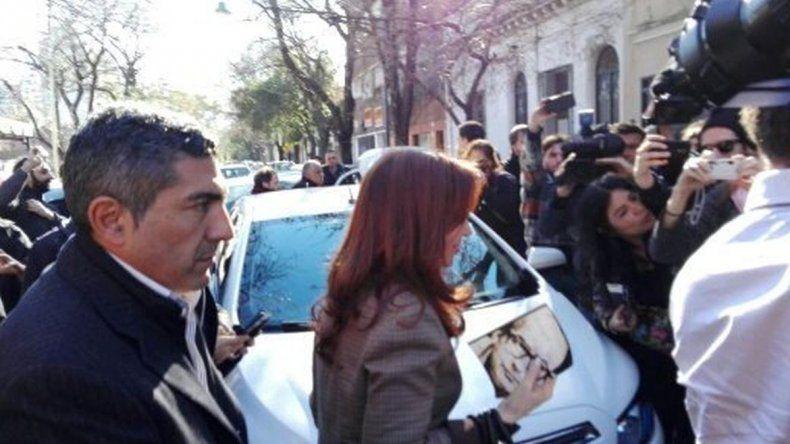 Cristina visitó a los trabajadores de Tiempo Argentino