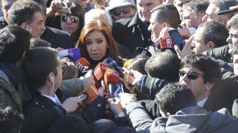 Salida de la ex presidente Cristina Férnandez de Kirchner de los tribunales de Comodoro Py.
